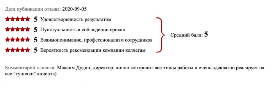 Отзыв о Максиме Дудине 6